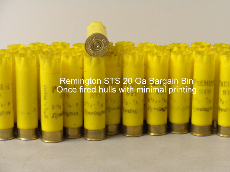 20 Ga Remington STS 1X Hulls - BARGAIN BIN