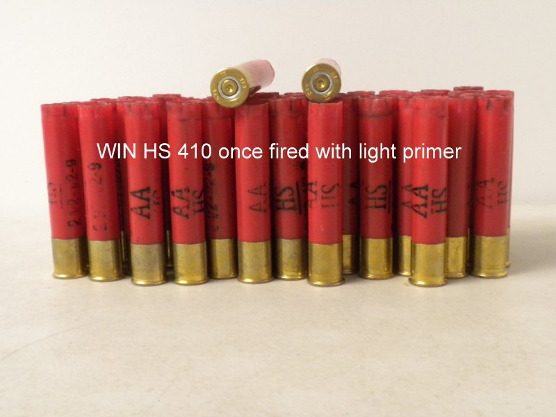 410 Bore WIN AA HS LT 1X Hulls - restocking